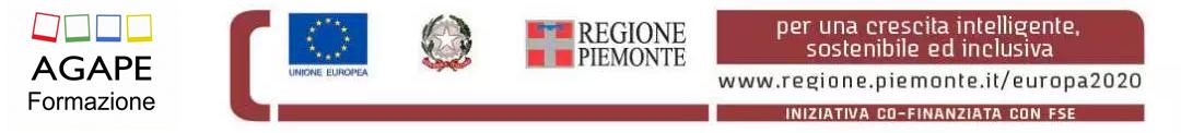 Logo agape formazione e Piemonte